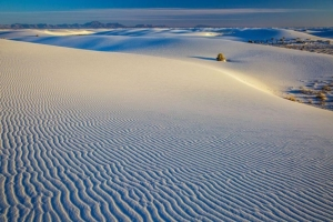 Rippling sand dunes at White Sands National Monument