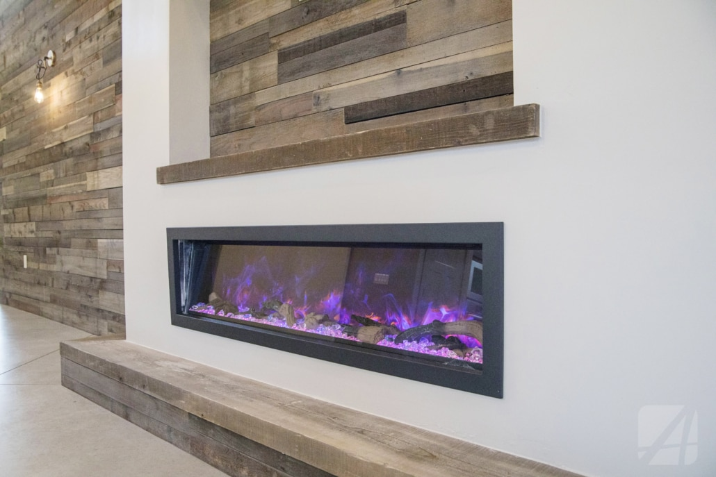 fire place, home, reclaimed wood, arista development, home builder