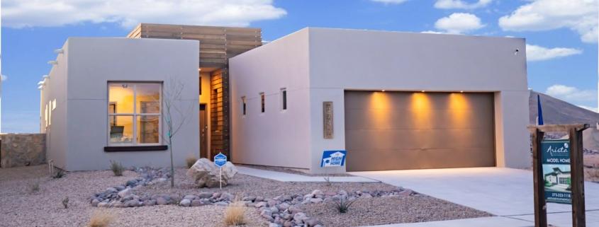 arista development, 3747 golden echo, exterior, house, sky, yard, rocks