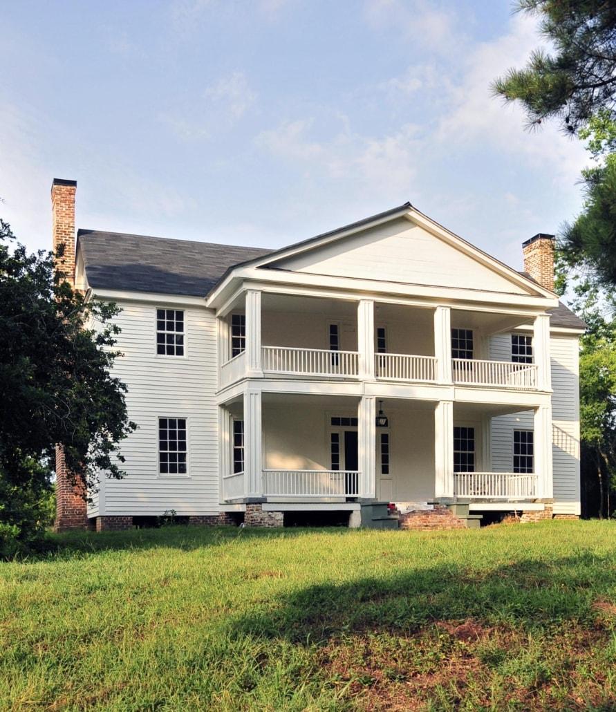 home styles, greek revivial, home, grass, tree, sky, arista development